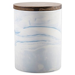 Artisanal Kitchen Supply® Coupe Marbleized 50 oz. Canister in Blue