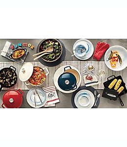 Bowl de porcelana con diseño de marmol Artisanal Kitchen Supply® en índigo