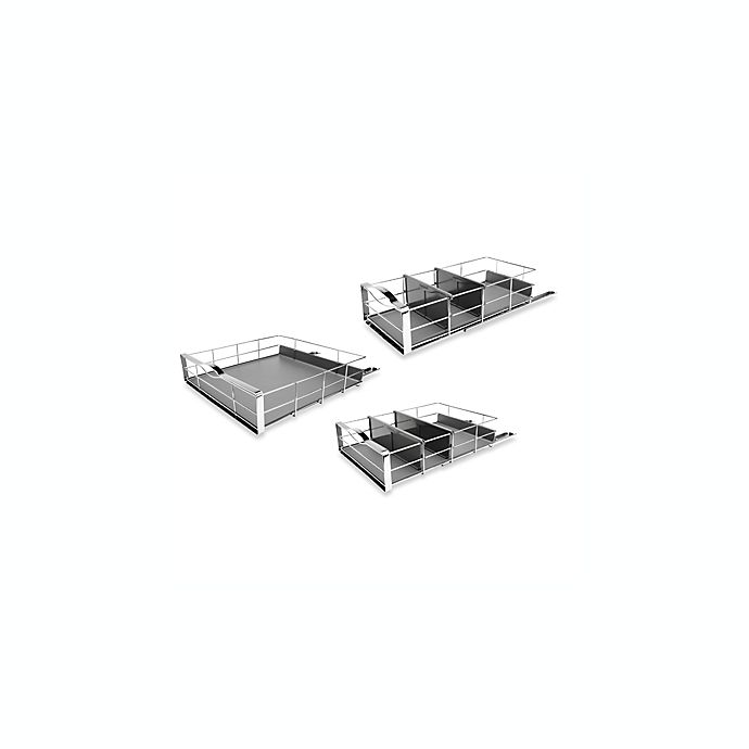 Alternate image 1 for simplehuman® Pull-Out Cabinet Organizer Collection in Grey