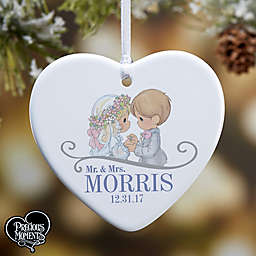 Precious Moments® Wedding Heart 1-Sided Christmas Ornament