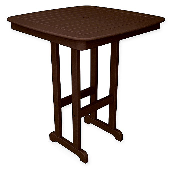 Alternate image 1 for POLYWOOD® Nautical 37-Inch Bar Table in  Mahogany