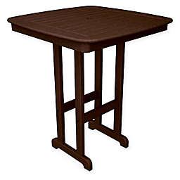 POLYWOOD® Nautical 37-Inch Bar Table in  Mahogany