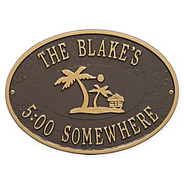 Whitehall Products Island Time Palm Indoor/Outdoor Wall Plaque