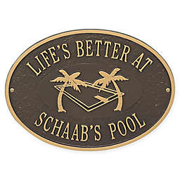 Whitehall Products Swimming Pool Party Indoor/Outdoor Wall Plaque