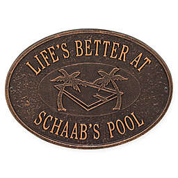 Whitehall Products Swimming Pool Party Indoor/Outdoor Wall Plaque in Antique Copper