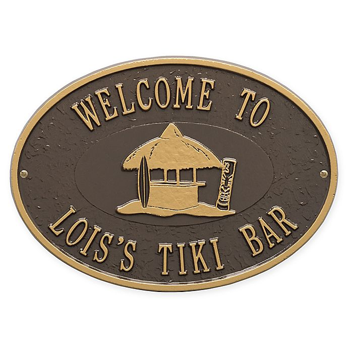 Alternate image 1 for Whitehall Products Tiki Hut Indoor/Outdoor Wall Plaque