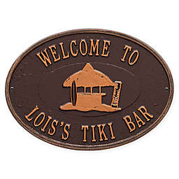 Whitehall Products Tiki Hut Indoor/Outdoor Wall Plaque in Antiqued Copper