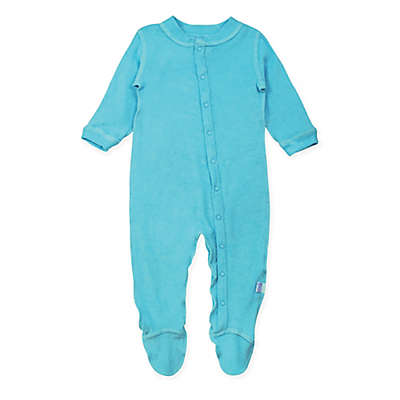 i play.® Brights Long-Sleeve Knitted Terry Footie in Aqua