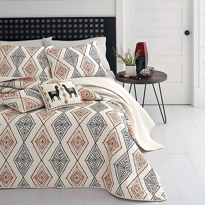 Alternate image 1 for Azalea Skye® Cusco Rhombus 3-Piece Reversible King Quilt Set in Beige