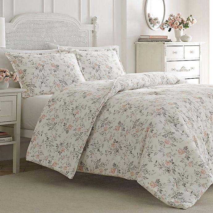 Laura Ashley Rosalie Flannel Comforter Set Bed Bath Beyond