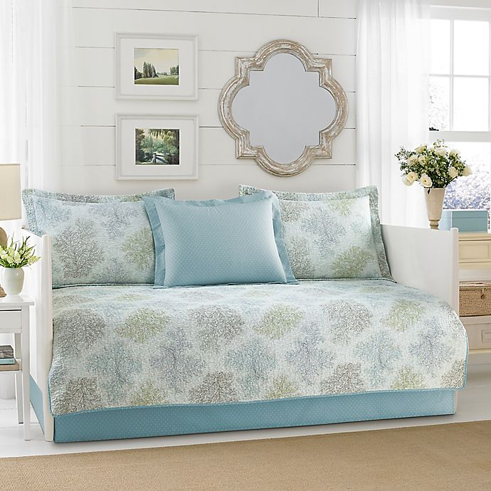 Alternate image 1 for Laura Ashley® Saltwater Daybed Set in Blue