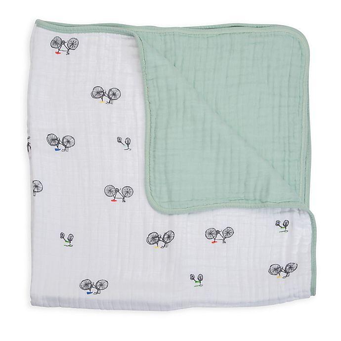 Alternate image 1 for Little Unicorn Bike Family Cotton Muslin Quilt