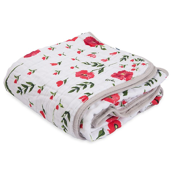 Alternate image 1 for Little Unicorn Summer Poppy Cotton Muslin Quilt