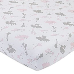 Nojo® Ballerina Bows Fitted Crib Sheet