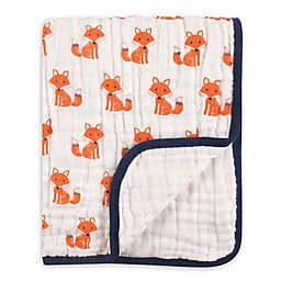 Hudson Baby® Foxes Tranquility Muslin Blanket in Orange