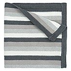 Elegant Baby® Cotton Stripe Blanket in Grey