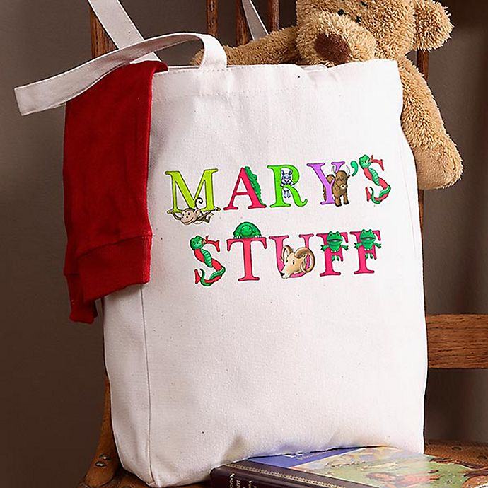 Alternate image 1 for Alphabet Animals Petite Tote Bag