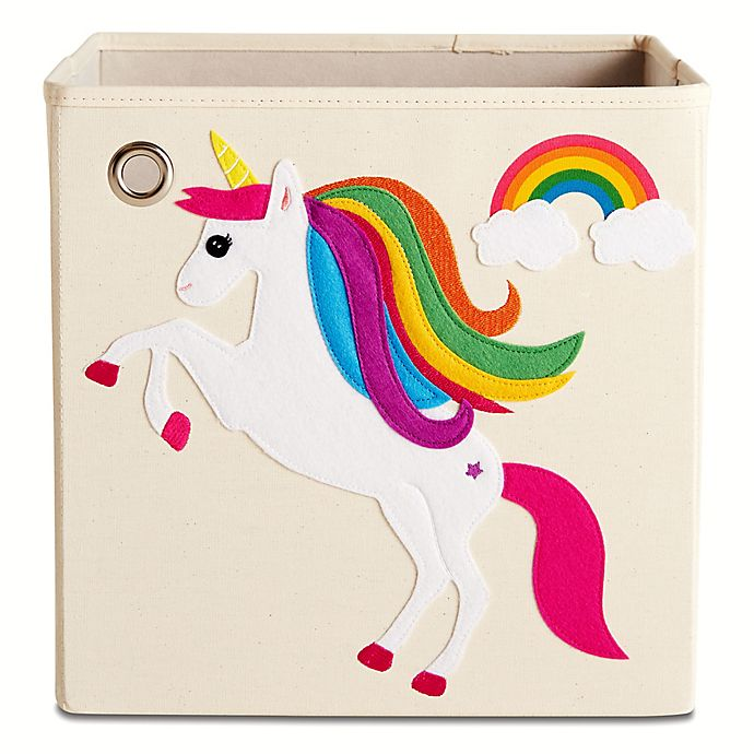 Alternate image 1 for kaikai & ash Unicorn Kid's Storage Bin