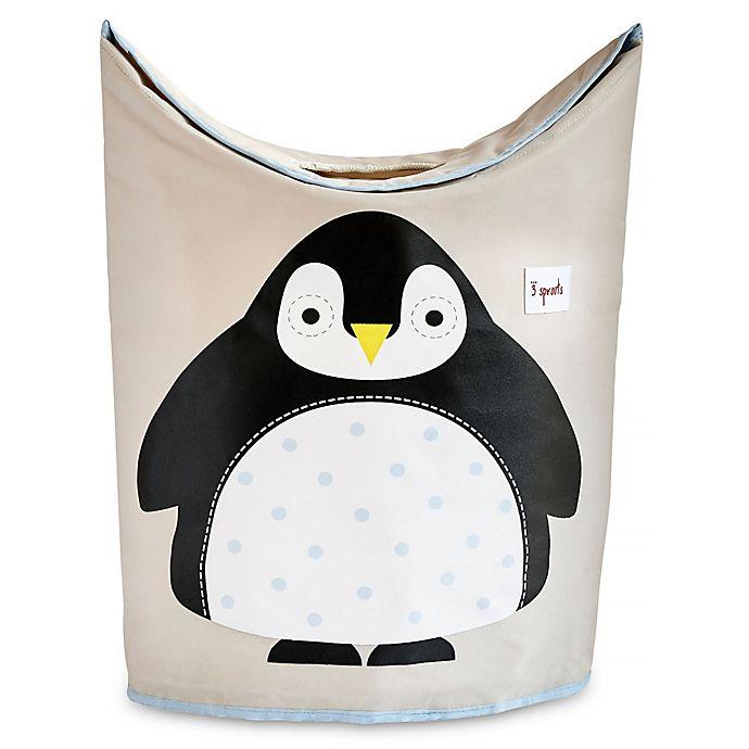 Alternate image 1 for 3 Sprouts Penguin Laundry Hamper in Black
