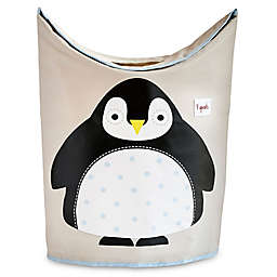 3 Sprouts Penguin Laundry Hamper in Black
