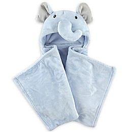 Hudson Baby® Elephant Plush Hooded Blanket in Blue