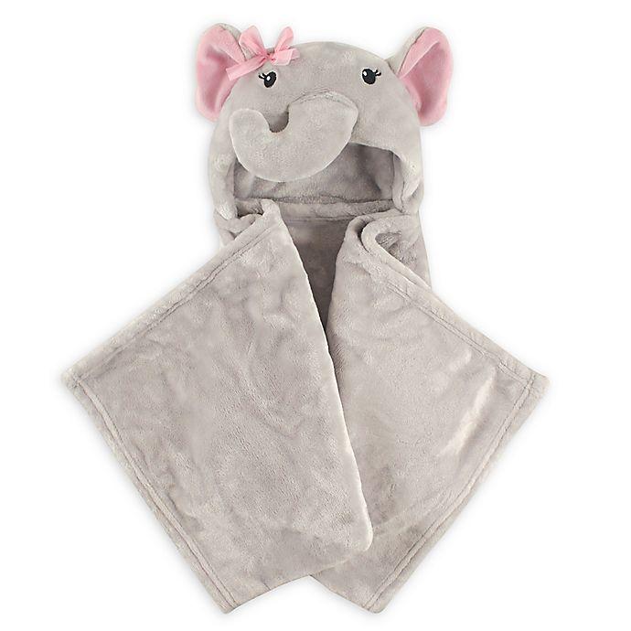Alternate image 1 for Hudson Baby® Girly Elephant Plush Hooded Blanket in Grey