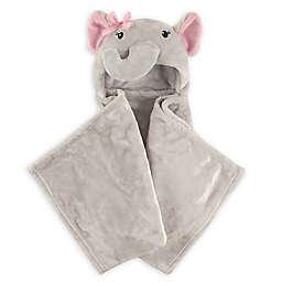 Hudson Baby® Girly Elephant Plush Hooded Blanket in Grey