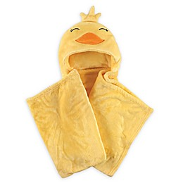 Hudson Baby® Duck Plush Hooded Blanket in Yellow