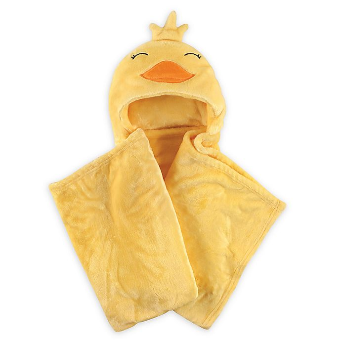 Alternate image 1 for Hudson Baby® Duck Plush Hooded Blanket in Yellow