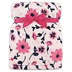 Hudson Baby® Florals Super Plush Blanket in Pink