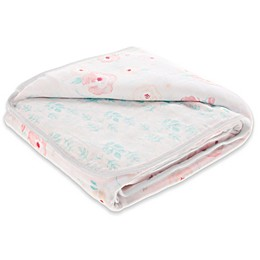 aden® by aden + anais® Full Bloom Cotton Muslin Blanket in Pink