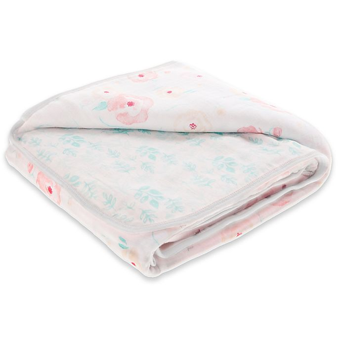 Alternate image 1 for aden + anais™ essentials Full Bloom Cotton Muslin Blanket in Pink