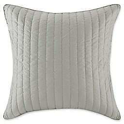 INK+IVY Camila Quilted European Pillow Sham in Grey