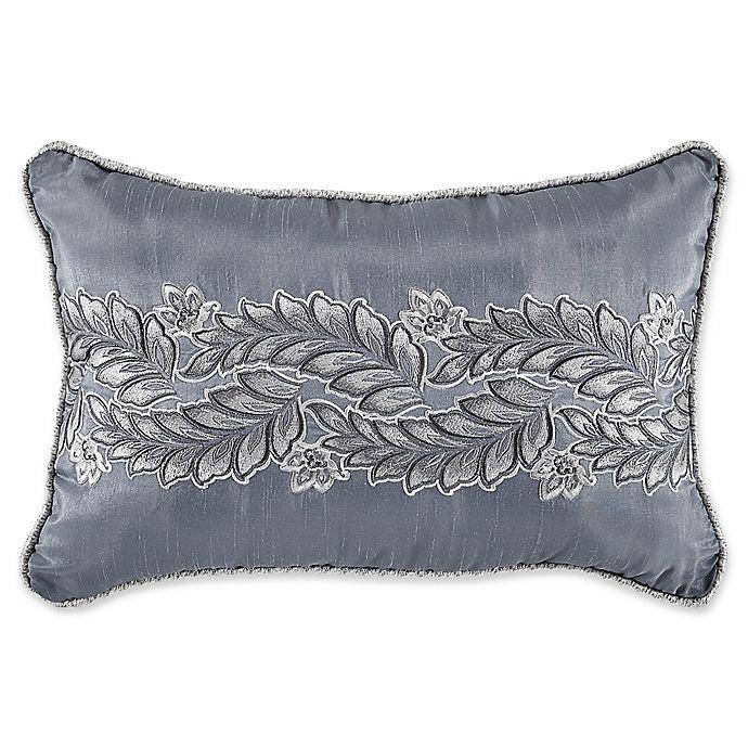 Alternate image 1 for Croscill® Seren Boudoir Throw Pillow in Blue