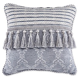 Croscill® Seren Tassel Throw Pillow in Blue