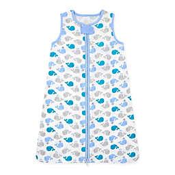 Gerber® Size 0-6M Whale Wear-A-Blanket in Blue/White/Grey