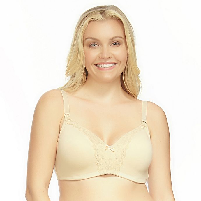 ef5a327eec8 La Leche League Heavenly Wireless Padded Nursing Bra in Beige ...