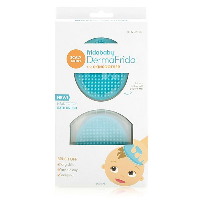 Alternate image 1 for FridaBaby DermaFrida the SkinSoother Silicone Bath Brush
