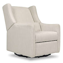 Babyletto Kiwi Swivel Electronic Recliner in White Linen