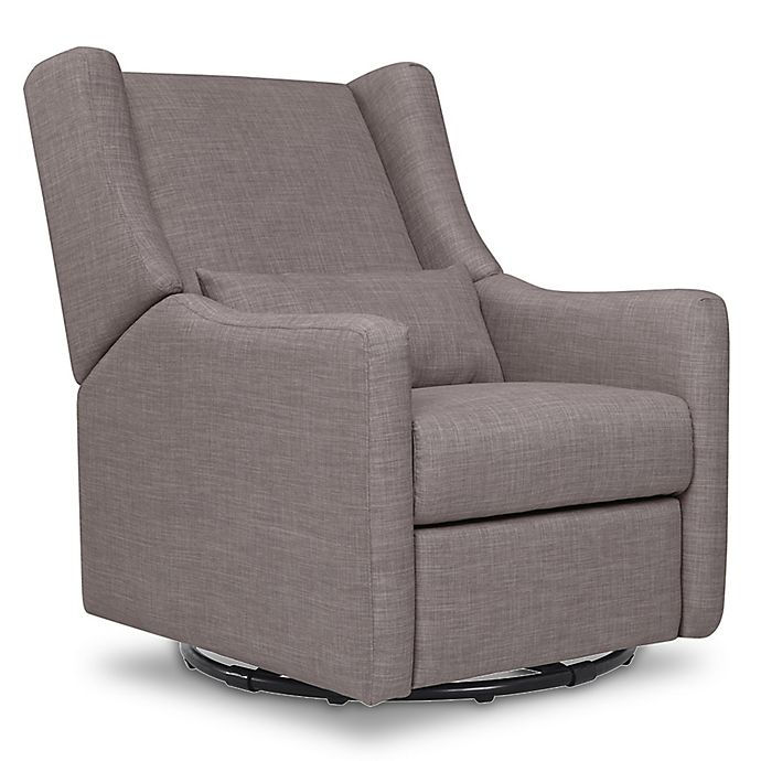 Alternate image 1 for Babyletto Kiwi Swivel Electronic Recliner in Grey Tweed