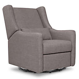Babyletto Kiwi Swivel Electronic Recliner in Grey Tweed