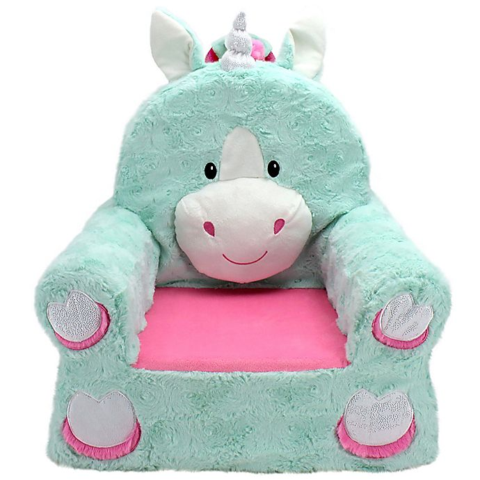 Alternate image 1 for Sweet Seats™ Unicorn Soft Chair in Teal