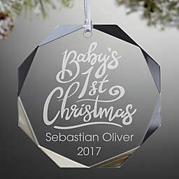 """Baby's 1st Christmas"" Premium Engraved Christmas Ornament"