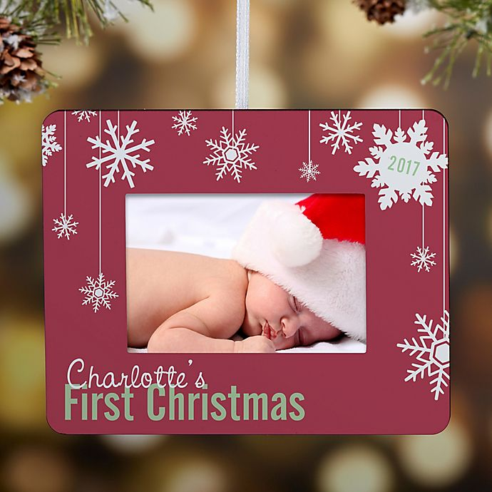 Alternate image 1 for First Christmas Snowflake Mini-Frame Christmas Ornament