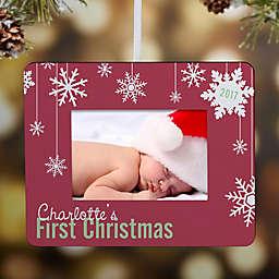 First Christmas Snowflake Mini-Frame Christmas Ornament