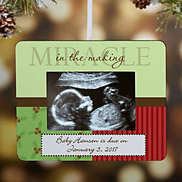 Proud to Announce Baby Mini-Frame Christmas Ornament