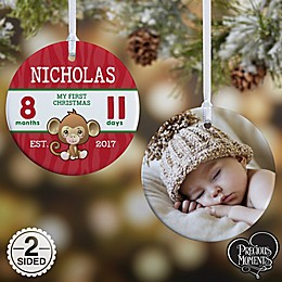 Precious Moments® 2-Sided Baby's First Glossy Photo Christmas Ornament