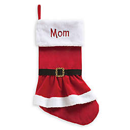 Personalized Planet Mrs. Claus Coat Stocking Red/White