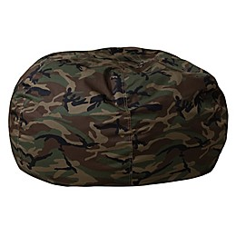 Flash Furniture Kids Bean Bag Chair in Camouflage
