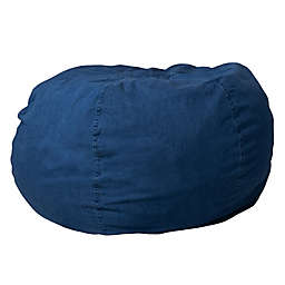 Flash Furniture Kids Bean Bag Chair in Denim